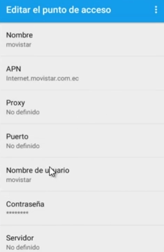apn movistar mexico para tener 3g movistar gratis android
