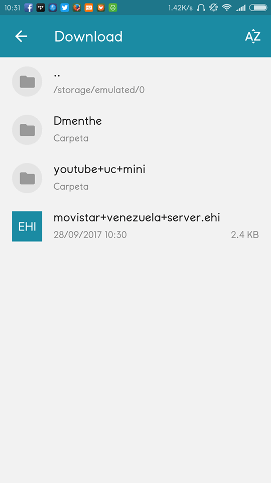 server movistar venezuela ehi http injector