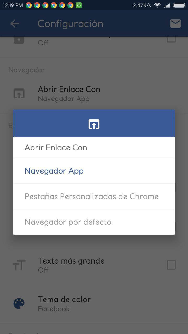 friendly for facebook apk seleccionar navegador