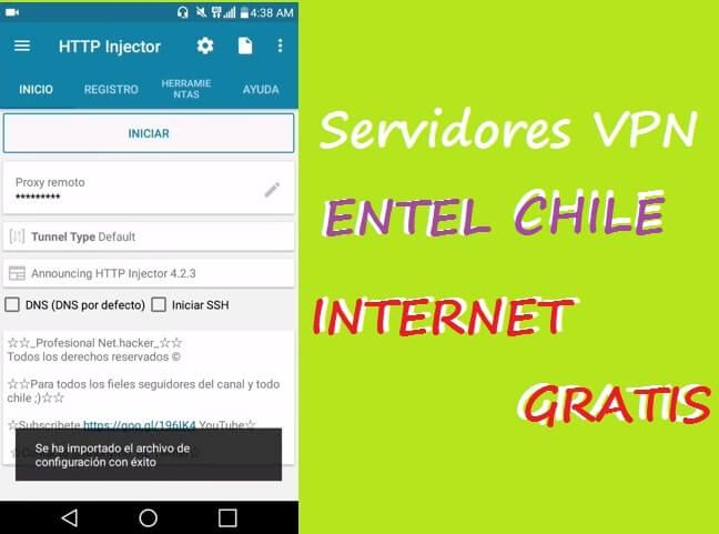 descargar servidores vpn entel chile full http injector vpn 2018 4g 3g