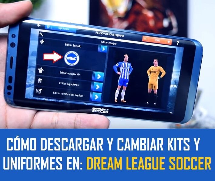 como cambiar y poner uniformes en dream league soccer 2018