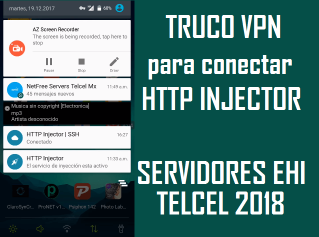 truco para conectar ehis telcel http injector