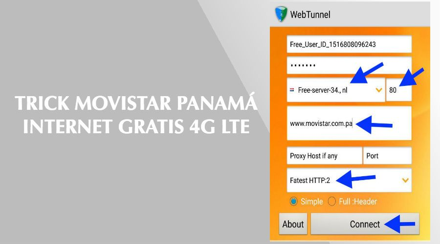 trick movistar panama internet gratis 2018 webtunnel vpn