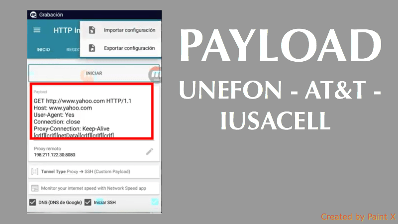 nuevo payload unefon telcel movistar 2018 http injector