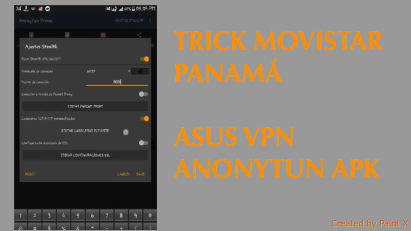 trick movistar panama android asus vpn anonytun apk