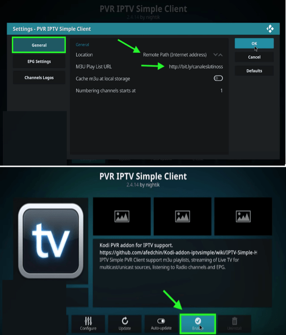 configurar pvr iptv en android windows pc tv box